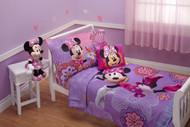 Disney Minnie's 'Fluttery Friends' 4-Piece Toddler Bed Set