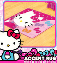 """Hello Kitty """"Bows"""" Accent Rug"""