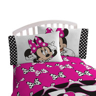 Disney Minnie Mouse 'Dots Are New Black' Twin Sheet Set