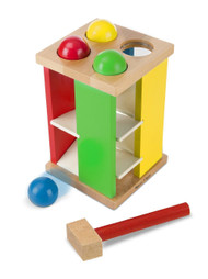 Deluxe Pound and Roll Tower Wooden Toy