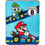 Super Mario Bros. Mario Kart 8 Plush Throw