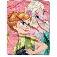 """Disney Frozen """"Coral Lace"""" Silky Soft Throw"""