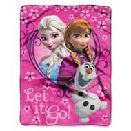 Disney Frozen 'Springtime Let It Go!' Silk Touch Throw