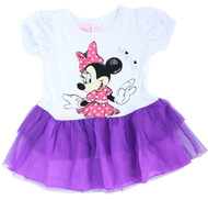 Disney Minnie Mouse Toddler Dress with Tulle (Purple)