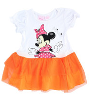 Disney Minnie Mouse Toddler Dress with Tulle (Orange)