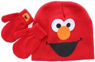 Sesame Street 'Elmo' Beanie Hat & Mittens Set