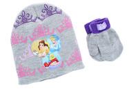 Disney Princess Toddler Winter Hat & Mitten Set (Gray)