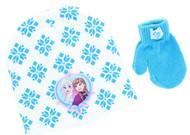 Disney Frozen Toddler Winter Hat & Mitten Set (White)