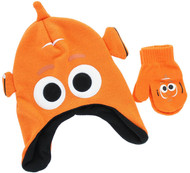 Disney Finding Dory 'Nemo' Toddler Winter Hat & Mitten Set