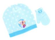 Disney Frozen Toddler Winter Hat & Mitten Set (Blue)