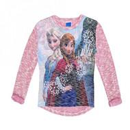 Disney Frozen 'Anna and Elsa' Lightweight Sweater (Pink)
