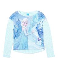 Disney Frozen 'Anna and Elsa' Lightweight Sweater (Blue)