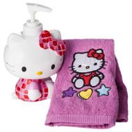 Hello Kitty Lotion Pump & Fingertip Towel Set
