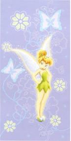 Disney Fairies Tinkerbell Purple Beach Towel