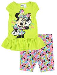 Minnie Mouse 'I Heart Minnie' 2-Piece Capri Set