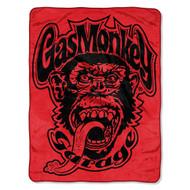 Gas Monkey Garage 'Red Monkey Logo' Super Plush Throw