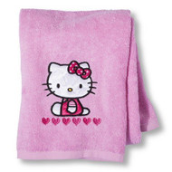 Hello Kitty Embroidered Pink Bath Towel