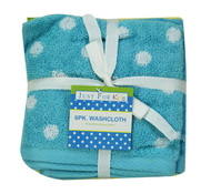 Just For Kids 6pk Froggy Washcloths