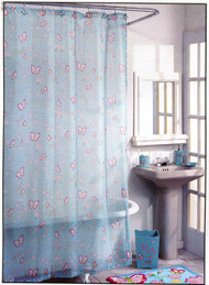 Madame Butterfly Fabric Shower Curtain