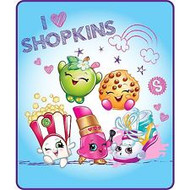 "Shopkins ""I ♥ Shopkins"" Silky Soft Throw"