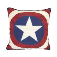Captain America 'Star Shield' Decorative Pillow