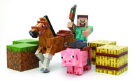 Minecraft Overworld Steve Figure Set Saddle Pack
