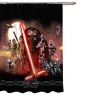Star Wars Ep 7: The Force Awakens Fabric Shower Curtain