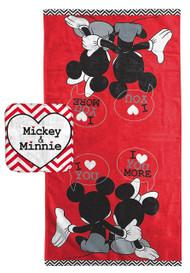"Mickey/Minnie Mouse ""Luv U More"" 2-Piece Bath Set"