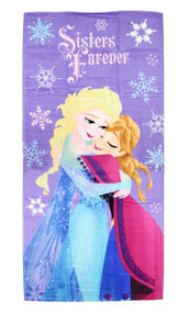 Disney Frozen 'Snowflakes Sisters Forever' Beach Towel