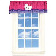 Hello Kitty 'Peek-A-Boo' Satin Window Valance