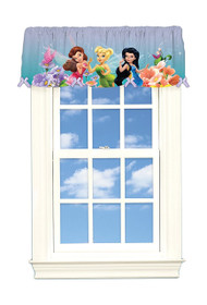 Disney Fairies 'Dew Drops & Sparkles' Satin Window Valance