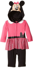 Disney Baby Girls Minnie Mouse Coverall (Pink)