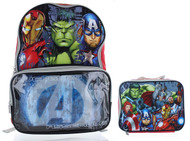"Marvel Avengers 16"" Backpack with Lunch Bag Set"