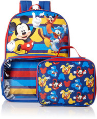 Mickey Mouse Roadster Racers Backpack with Lunch Bag Set