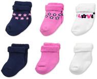 Gerber Baby Girls 6-Pack Variety Socks - Flower
