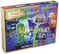 PJ Masks 5-Pack Wood Puzzles