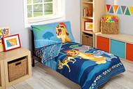 The Lion Guard 'Wild Team' 4-Piece Toddler Bedding Set