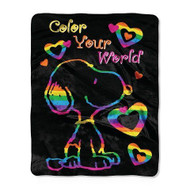 Peanuts 'Color Your World' Silk Touch Throw