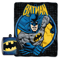 Batman 'Break Out' Drawstring Tote and Throw Set