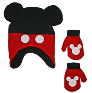 Mickey Mouse Toddler Winter Hat & Mitten Set