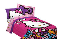 Hello Kitty 'What's Not to Love' Twin/Full Reversible Comforter