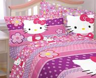 Hello Kitty 'Ditsy Dots' Twin Sheet Set