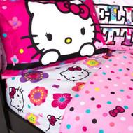 Hello Kitty 'Floral' Twin Sheet Set