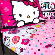 Hello Kitty 'Floral' Full Size Sheet Set
