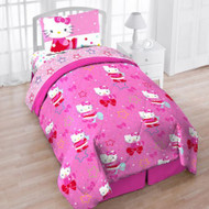 Hello Kitty 'Top Star' Twin 4-Piece Bed Set