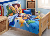 """Toy Story """"Power Up"""" 4-Piece Toddler Bedding Set"""
