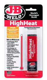 JB Weld 8297 HighHeat High Temp Epoxy for use with Calvan 38900 and 39300 spark plug thread repair kits