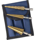Titanium Step Drill Bit Set