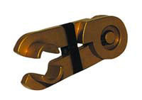 "3/8"" Gold-Anodized Aluminum"