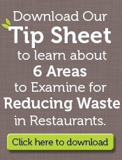 tip sheet to reduce restaurant waste